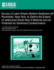 Survey of Lake Ontario Bottom Sediment off Rochester, New York, to ...