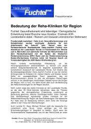 Zukunft der Reha-Kliniken in der Region - ACURA SIGEL Klinik