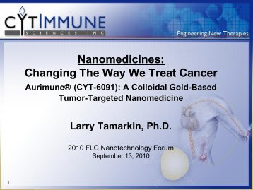 Nanomedicines: Changing The Way We Treat Cancer Aurimune - FLC Mid ...