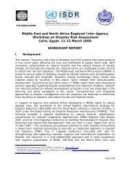 Middle East and North Africa Regional Inter-Agency Workshop - unisdr