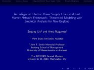 An Integrated Electric Power Supply Chain and Fuel Market Network ...