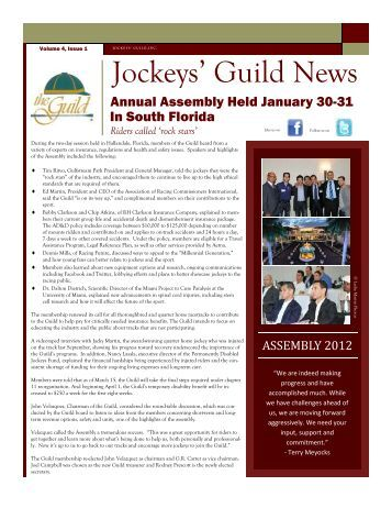 Newsletter Vol 4 Issue 1 - The Jockeys