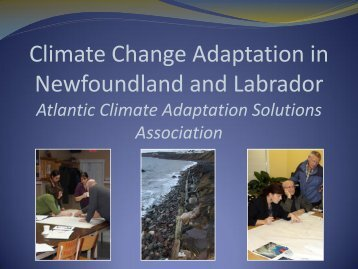 Climate Change Adaptation in Newfoundland and ... - COINAtlantic