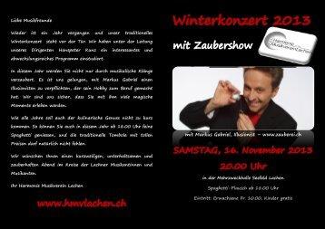 Zum Programm - Harmonie - Musikverein Lachen