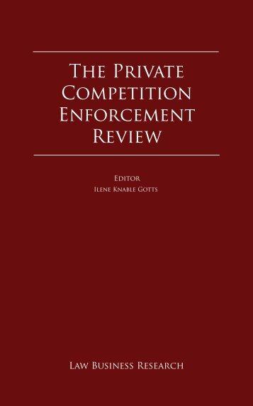 The Private Competition Enforcement Review - Morais Leitão ...