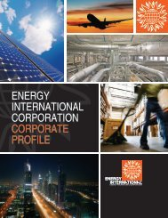ENERGY INTERNATIONAL CORPORATION CORPORATE PROFILE