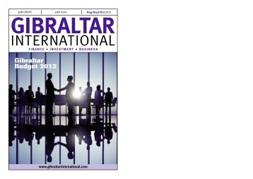 Gibraltar Budget 2012 - Gibraltar International Finance Magazine