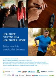 healthier citizens in an eHealthier Europe - Microsoft