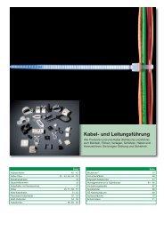 Kabel- und Leitungsführung