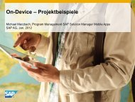 Application Lifecycle Management Mobile Apps for SAP Solution ...
