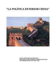"""""""LA POLÍTICA EXTERIOR CHINA"""" - México Diplomático"""