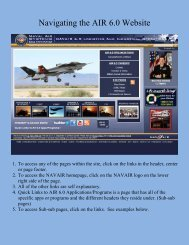 Navigating the AIR 6.0 Website - NAVAIR