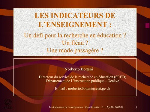 Les indicateurs de l'enseignement du Canton de ... - Oxydiane.net