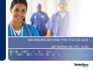 ADVANCING BEYOND THE STATUS QUO - Mayo Healthcare