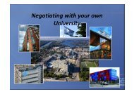 Negotiating with your own University