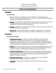 POA Rules & Regulations - St. Lucie Falls