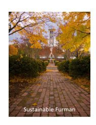 Download Sustainable Furman as a PDF - Furman University