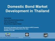 Domestic Bond Market Development in Thailand - World Bank