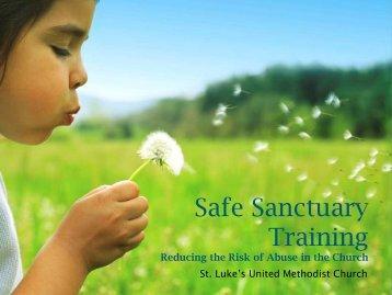 Safe Sanctuary Training (PDF) - St. Luke's United Methodist Church