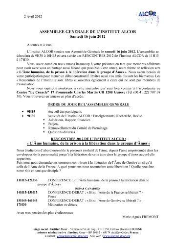 Convocation AG 2012.pdf - Institut Alcor