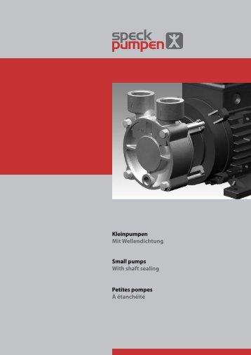 Kleinpumpen Mit Wellendichtung Small pumps With shaft sealing ...