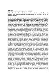 Reunião de Posse do Conselho Gestor - Minuta de Ata - Reserva da ...