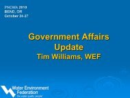 WEF's Goverment Affairs Update from - pncwa