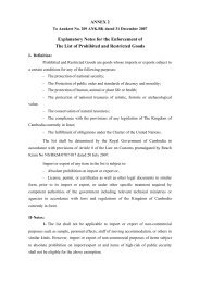 Annex 2 to Sub-Decree #209_Prohibited or Restricted ...