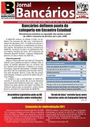 jornal bancarios junho 2011.indd - Sindicato dos Bancários do ...