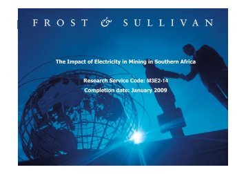 The Impact of Electricity in Mining in Southern Africa Research ...