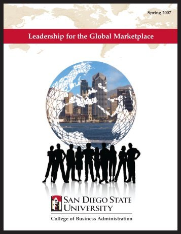 Leadership for the Global Marketplace - The College of Business ...
