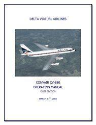 Convair CV-880 Operating Manual - Air France Virtual Airlines