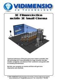 3D Filmprojection mobile 3D Small Cinema - VIDIMENSIO