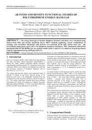 ab initio and density functional studies of polythiophene ... - Nectec