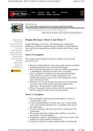 Douglas McGregor -Theory X and Theory Y - Base