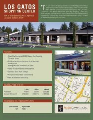 Los Gatos sHoPPING CENtER - Prime Commercial, Inc