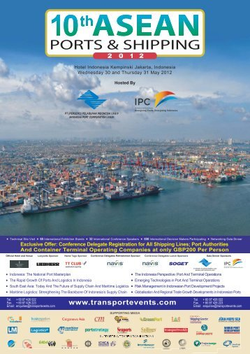 Conference Delegate Registration for All Shipping Lines; Port ...