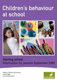Children's behaviour at school - Hertfordshire County Council