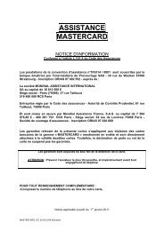 ASSISTANCE MASTERCARD - CIC