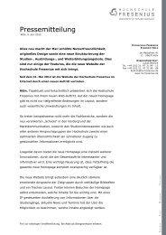 neu macht der Mai - Hochschule Fresenius