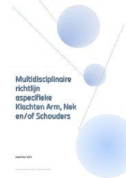 Aspecifieke Klachten Arm, Nek en/of Schouders - Nederlandse ...