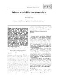 Pulmoner arteriyel hipertansiyonun tedavisi - Tıp Araştırmaları Dergisi