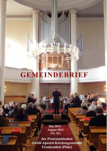 gemei debrief - Zwolf-Apostel-Kirche Frankenthal