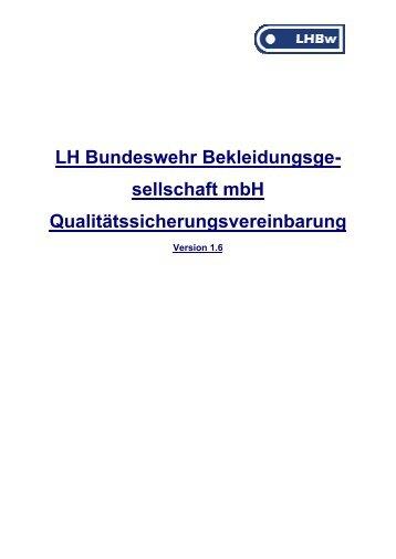 sellschaft mbH Qualitätssicherungsvereinbarung - LH Bundeswehr