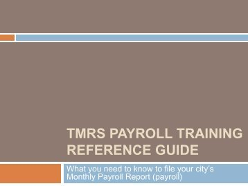 tmrs payroll training reference guide