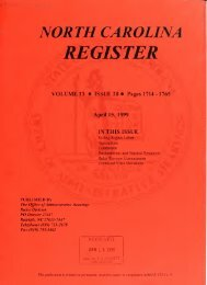 NC Register Volume 13 Issue 20 - Office of Administrative Hearings