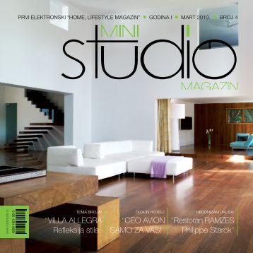 Villa allEGRa Refleksija stila - Mini Studio Magazin