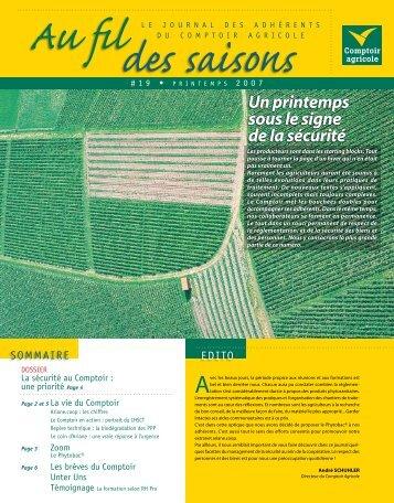 Fil Des Saisons #19 Printemps 2007 - Comptoir Agricole