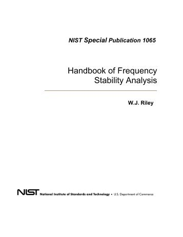 Handbook of Frequency Stability Analysis