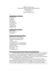 USIBWC Citizens Forum Tijuana River National Estuarine Research ...